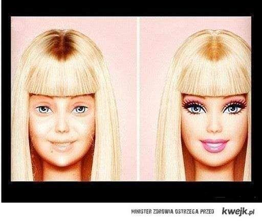 Barbie bez makijażu