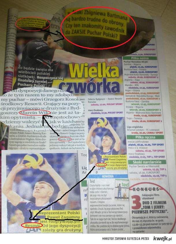 Znajomosc klubów polskich siatkarzy powala na kolana...