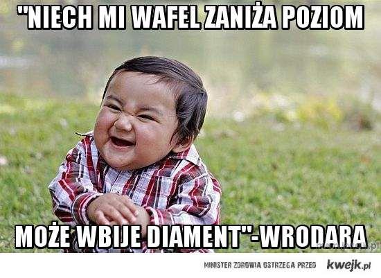"""""""Niech mi Wafel Zaniża POziom"""