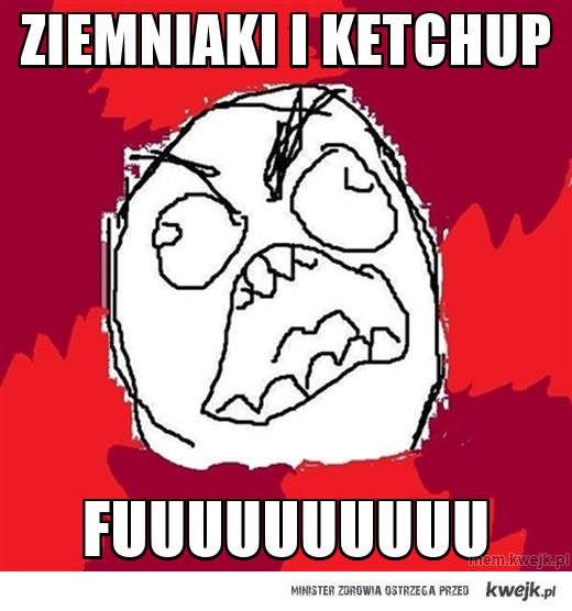 ziemniaki i ketchup