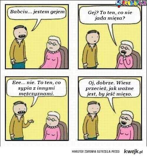 Babciu jestem gejem