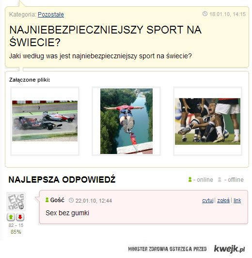Najniebezpieczniejszy sport