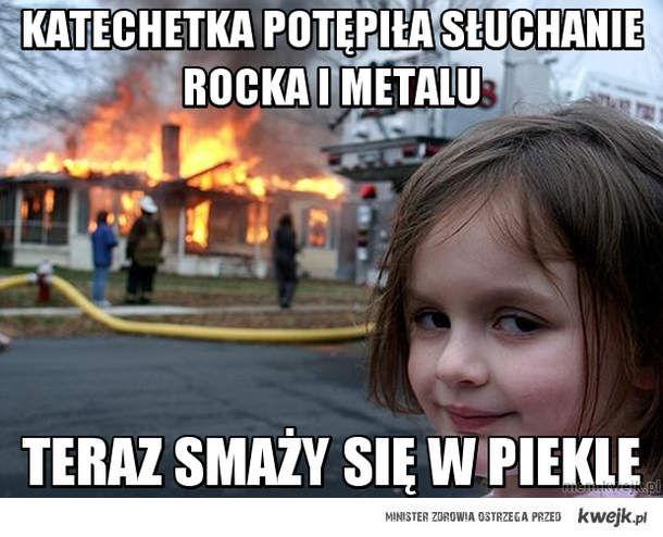 katechetka potępiła słuchanie rocka i metalu
