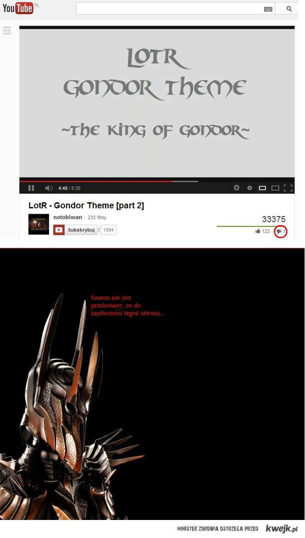 Sauron disaproves