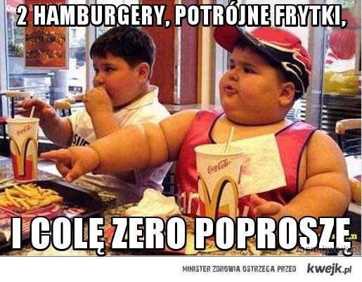 2 hamburgery, potrójne frytki,