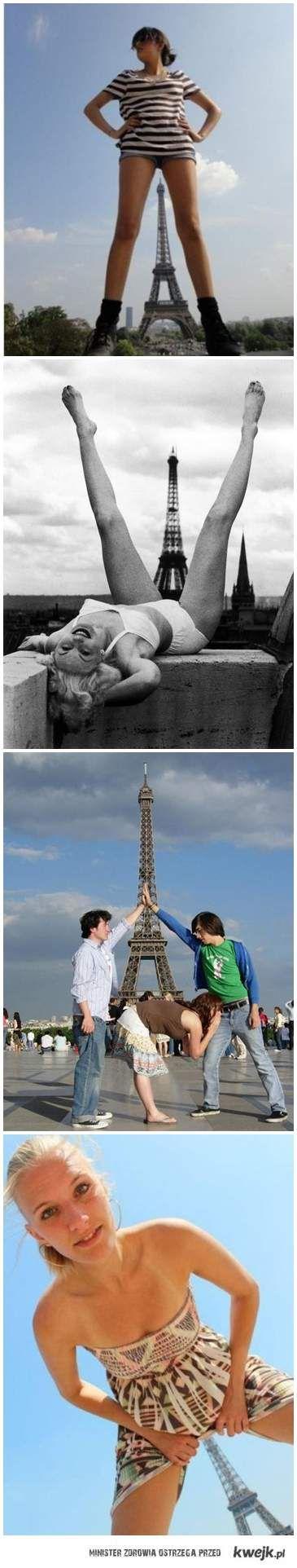 Trochę inne zdjęcia z wieżą Eiffla xD