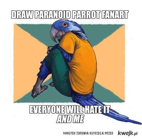 paranoid parrot fanart