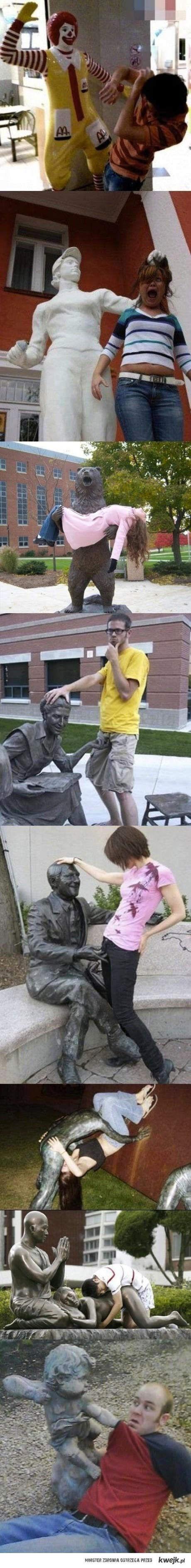 Brutalne posągi