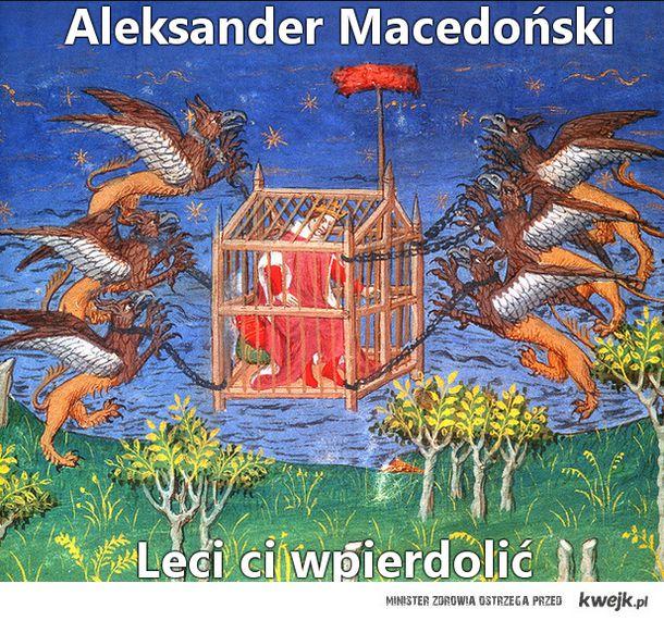 Aleksander Macedoński leci...