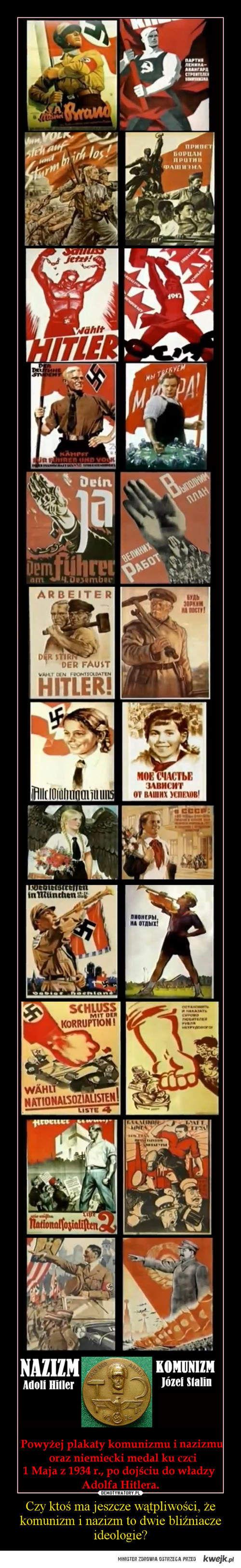 Czy ma ktoś jeszcze wątpliwości, że komunizm i nazizm to dwie bliźniacze ideologie?