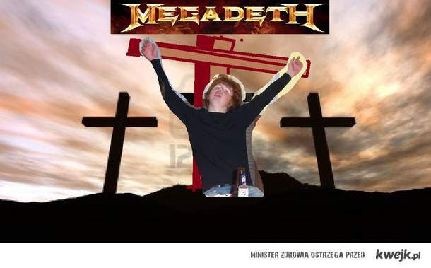 Dave Mustaine na krzyżu