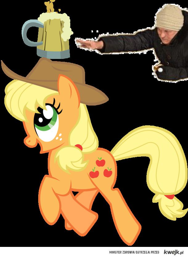 Chytra baba and Applejack
