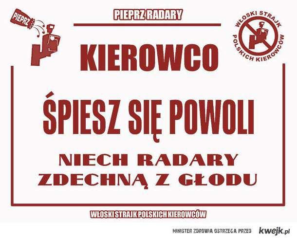 Włoski strajk polskich kierowców