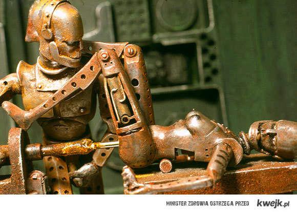 seks robotów