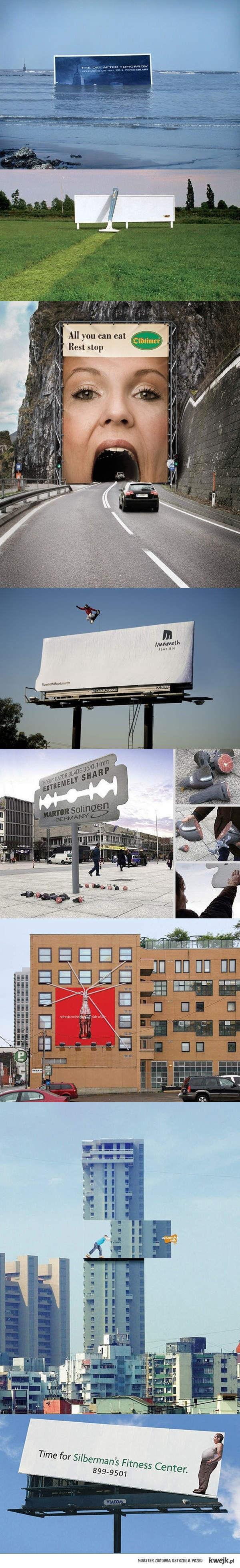 Genialne billboardy