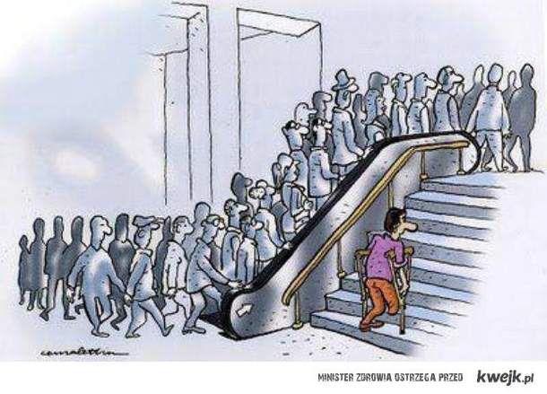 rzeczywistość na schodach