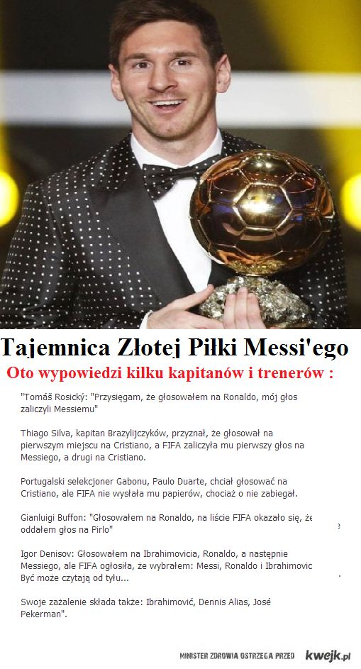 Złota Piłka Messi