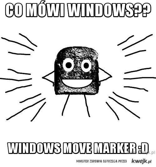 co mówi windows??
