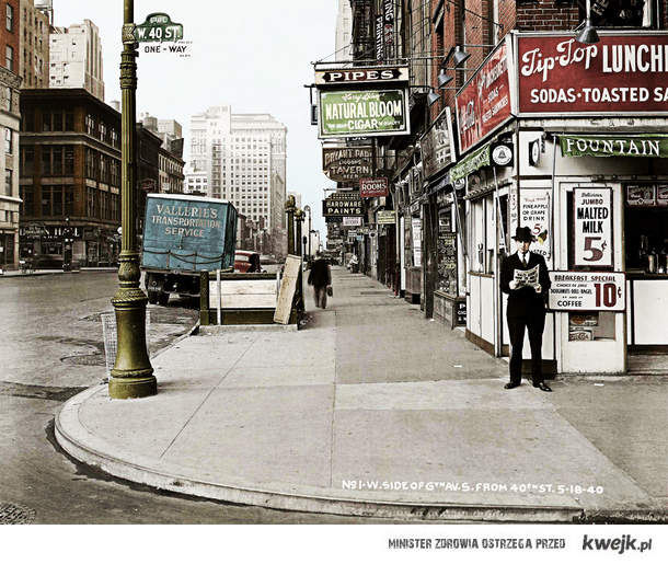 Nowy Jork 6th Ave. w kolorze