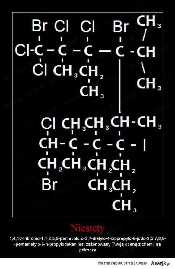 Twoja ocena z chemii...