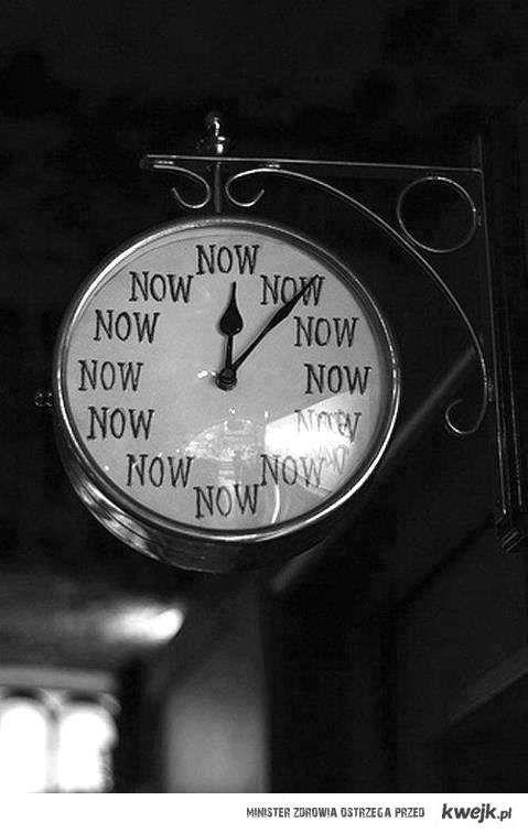 now o'clock