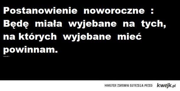 Postanowienie Noworoczne.