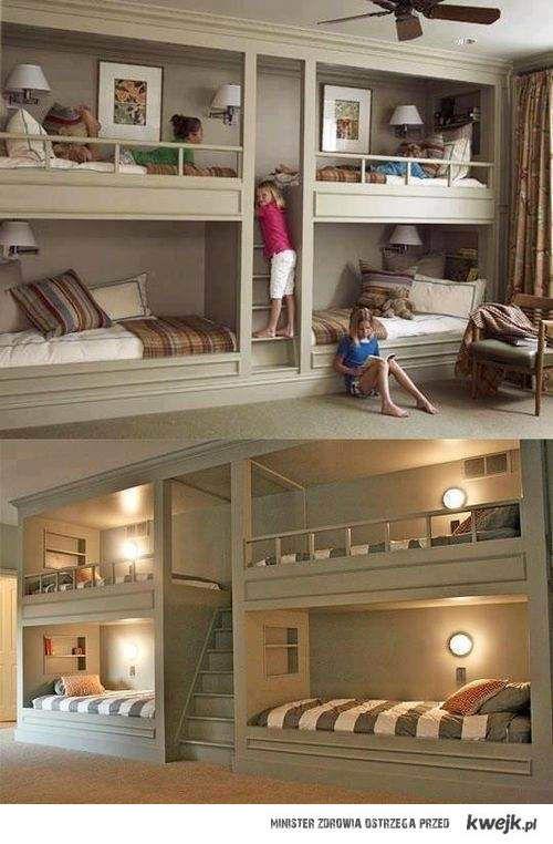 pokój dla czwórki dzieci