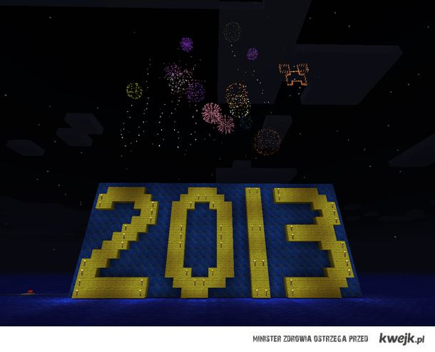 2013 happy new year in minecraft