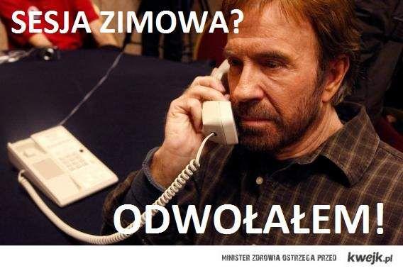 Chuck Norris odwołuje sesje