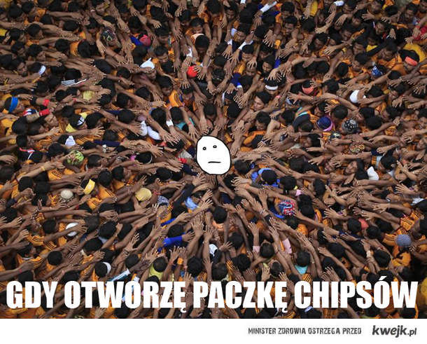 Gdy otworzę chipsy