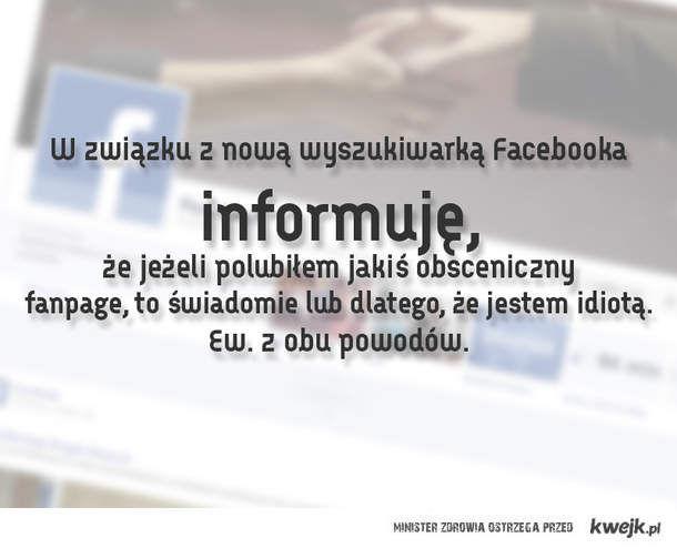W związku z nową wyszukiwarką Facebooka...