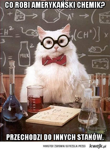 co robi amerykański chemik?