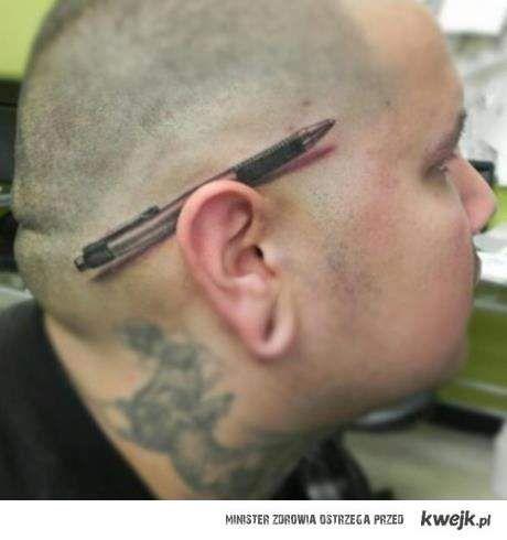 Długopis jest tatuażem
