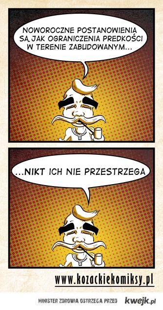 Komiks o noworocznych postanowieniach