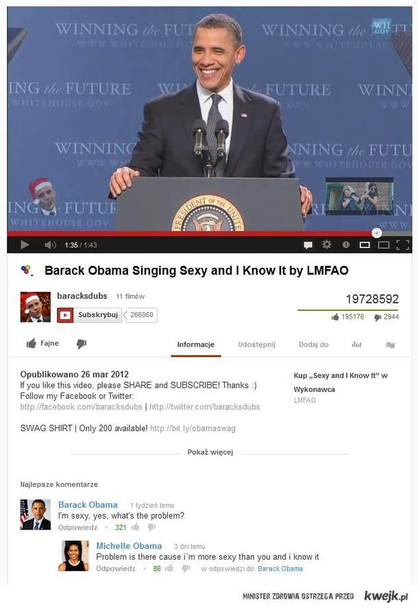 Barrack Obama - I'm Sexy And I Know It