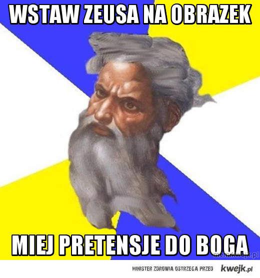 Wstaw Zeusa na obrazek