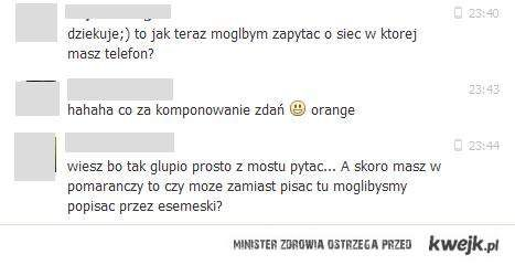 """W pomarańczy"" hahaha"