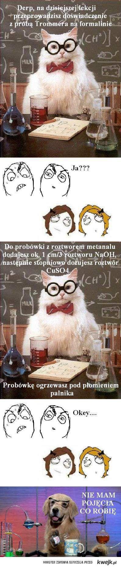 Na lekcji chemii...