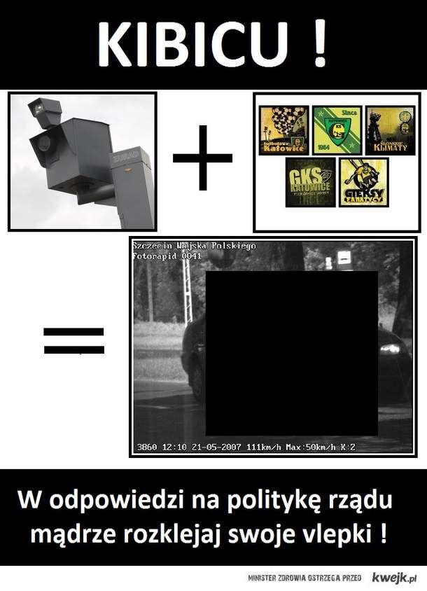 fotoradar vs kibice