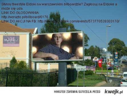Eldoka na wolno na warszawskim bilboardzie - zagłosuj!