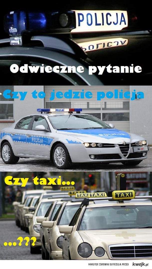 policja czy taxi