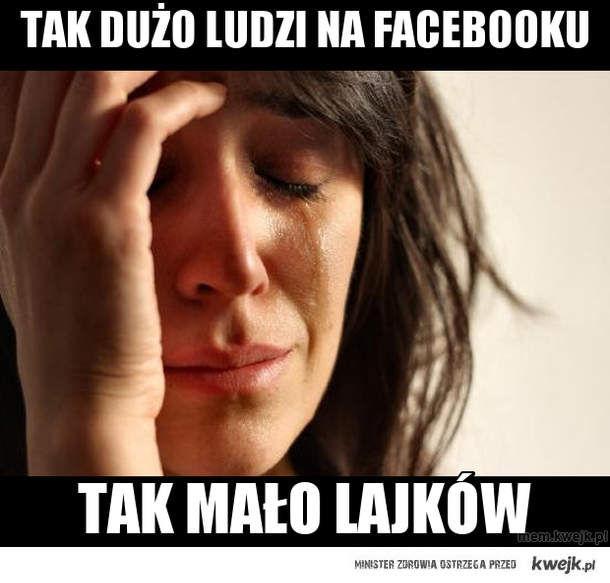 Tak dużo ludzi na facebooku