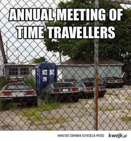time travellers meeting