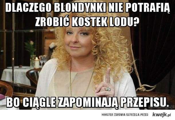 Dlaczego blondynki nie potrafią zrobić kostek lodu?