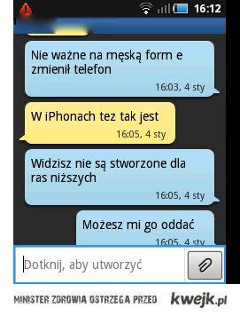 tekst w telefonach