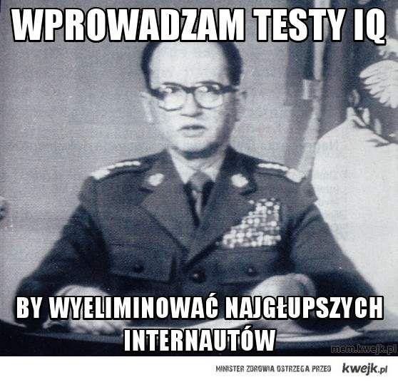 wprowadzam testy IQ