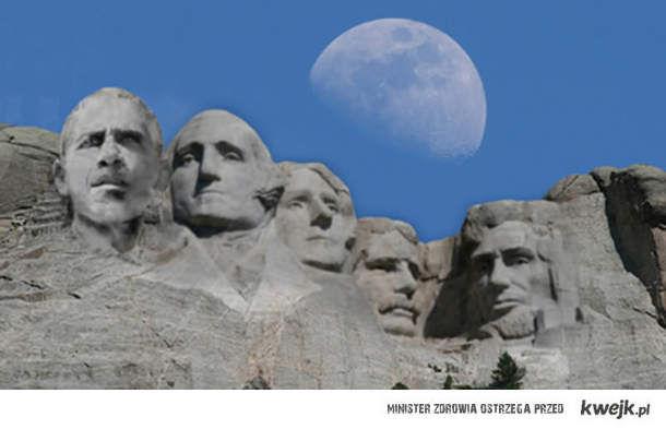 Mount Rushmore Obama