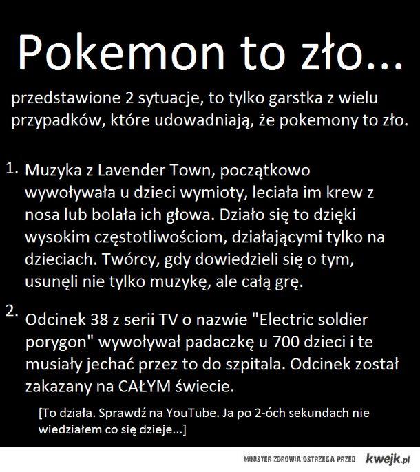 Pokemony to zuo
