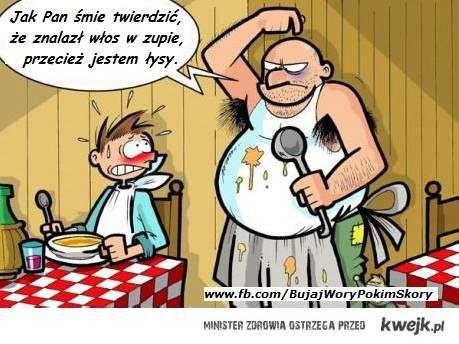 Łysy kucharz
