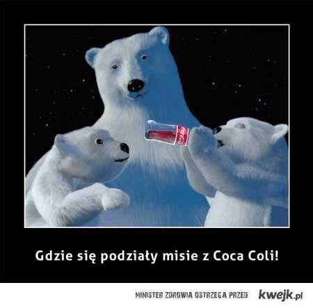 Gdzie się podziały misie z Coca-Coli ?!?